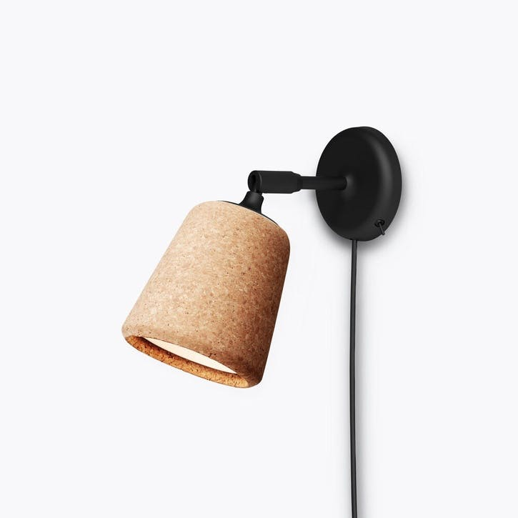 Material, Wall Lamp, W13 x D18cm, Natural Cork