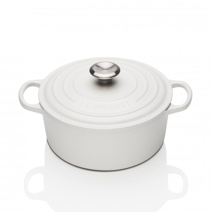 Cast Iron Round Casserole - 24cm; Cotton