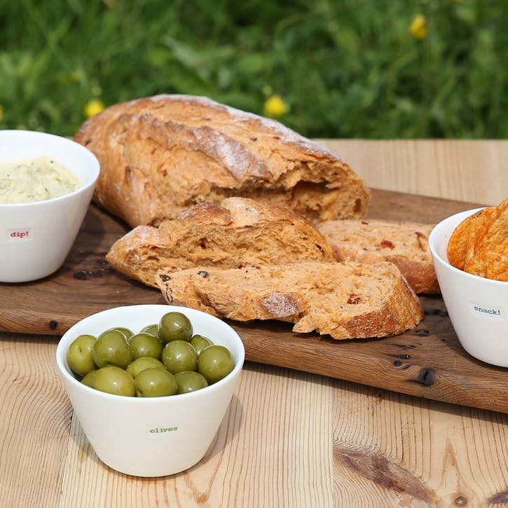 'Olives, Dip, Nibbles & Snack!' Set of 4 Snack Bowls