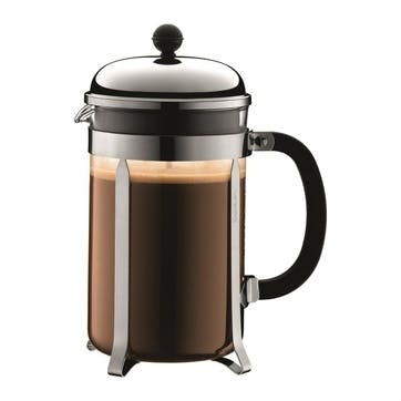 Chambord, 12 Cup Coffee Maker, 1.5 Litre, Silver/Black