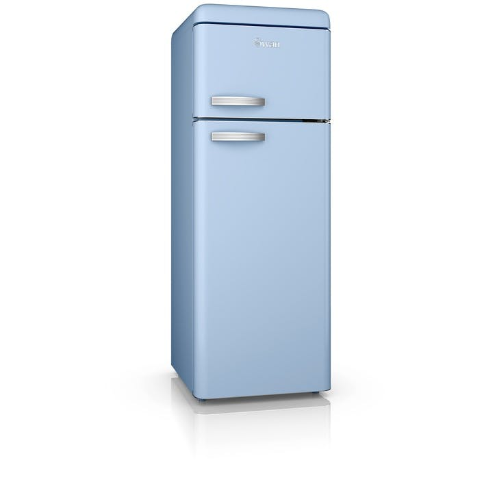 Retro Top-Mounted Fridge Freezer, Blue