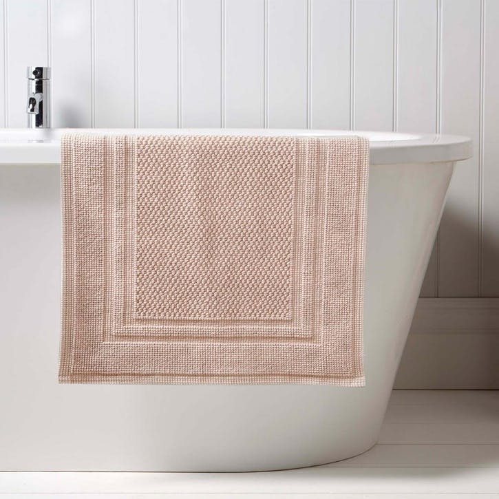Fina Small Bath Mat, Pearl