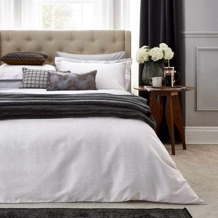 Kahala Super-King Duvet Cover,  Silver