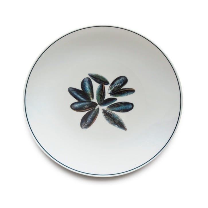 Seaflower Mussel Dinner Plate, 28cm, Multi