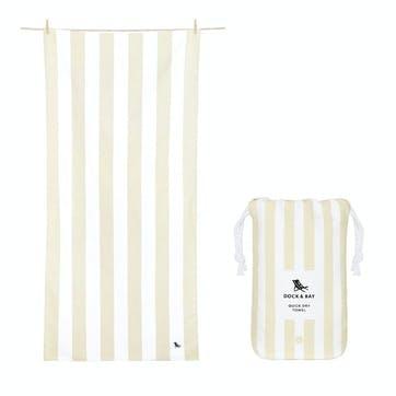 Cabana Beach Towel, Beige, Extra Large