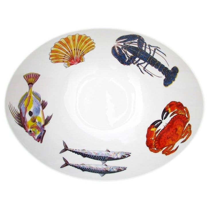 Fish & Shellfish Oval Bowl - 27cm