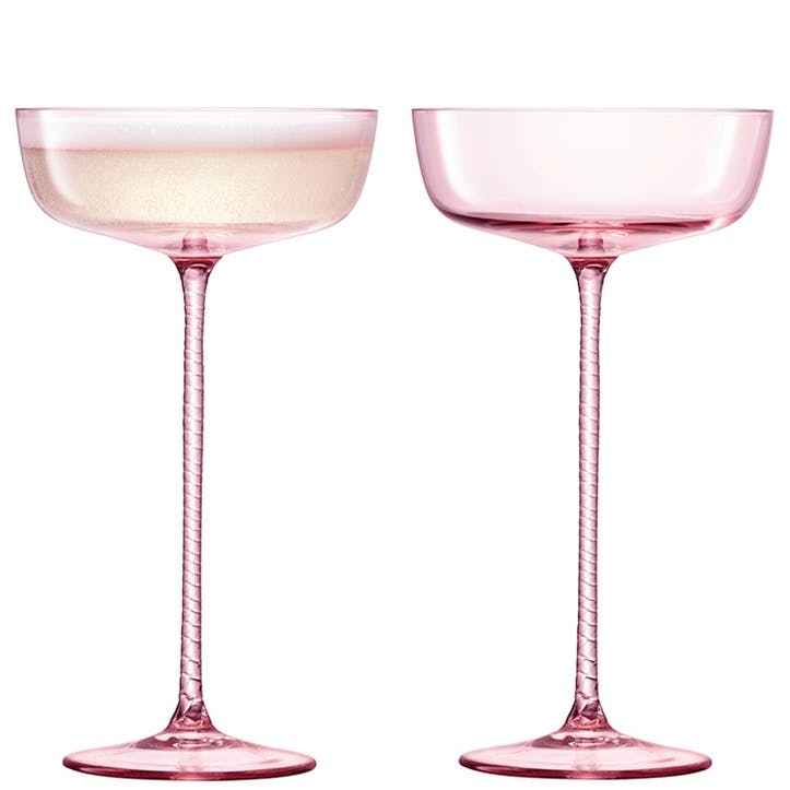 Champagne Theatre Set of 2 Saucers - 190ml; Dawn Pink