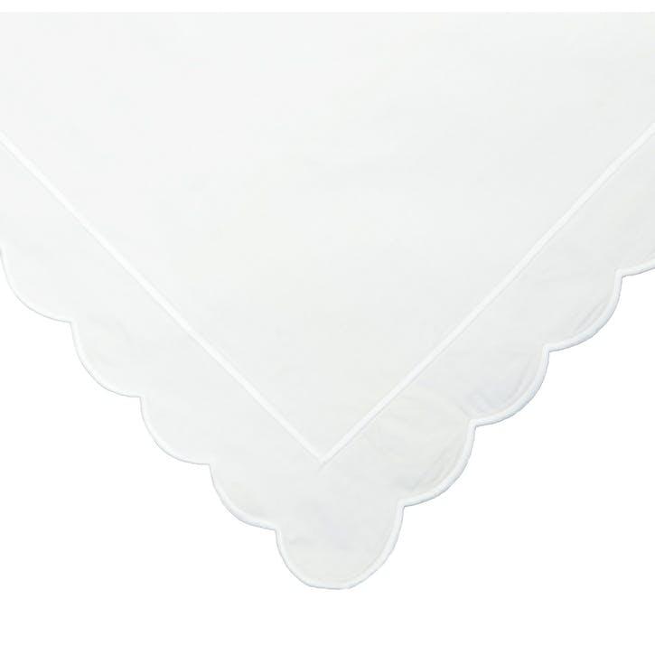 White Scalloped King Size Duvet Cover