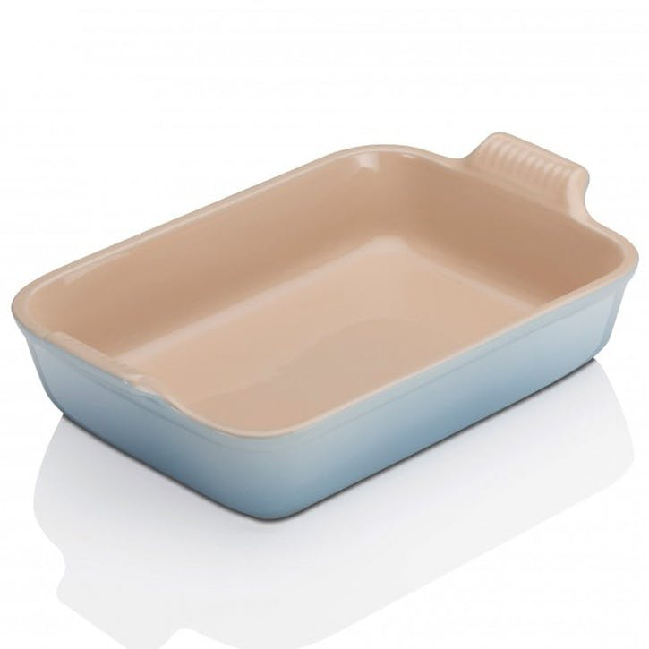 Stoneware Rectangular Dish - 19cm; Coastal Blue