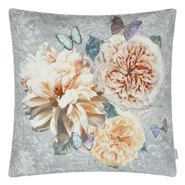 Pahari  Cushion, H50 x W50cm, Platinum