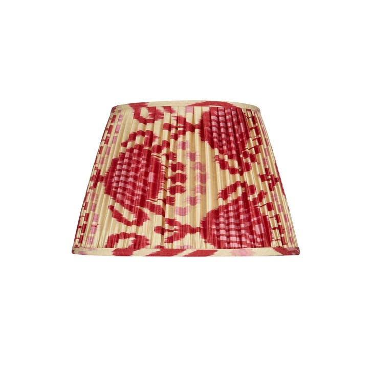 Pink & Red Silk Ikat Lampshade, 35cm