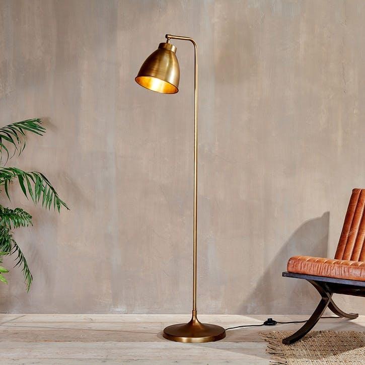 Muturi, Floor Lamp, Antique Brass