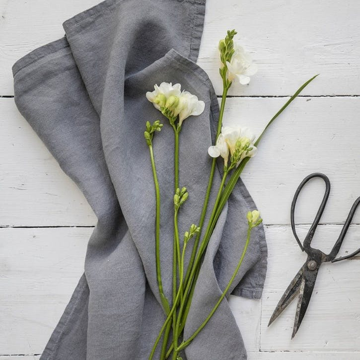 Linen Tea Towel, Charcoal
