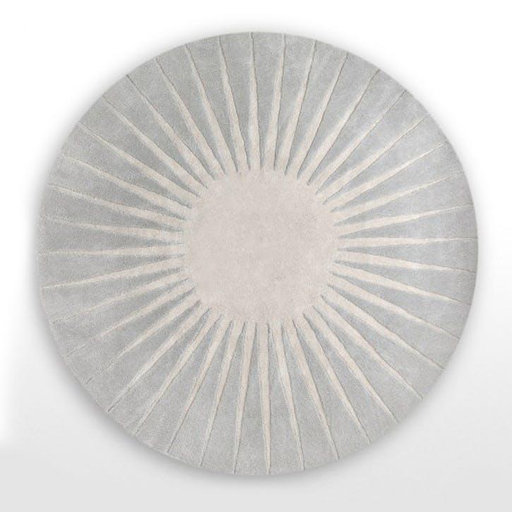 Vaserely Large Circular Wool Rug 200cm, Grey