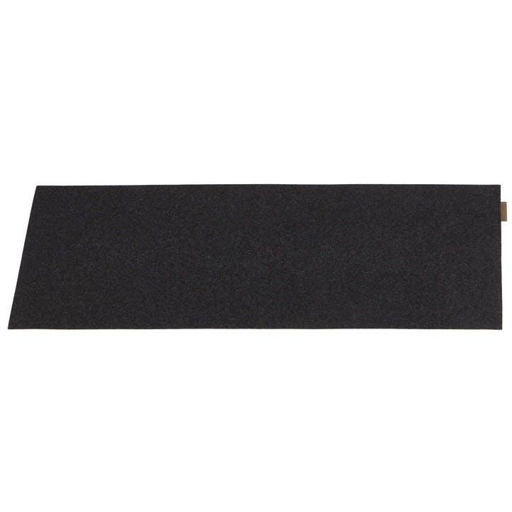 Vendela Wool Table Runner, Black