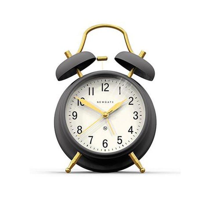 Brick Lane Alarm Clock, Grey and Brass