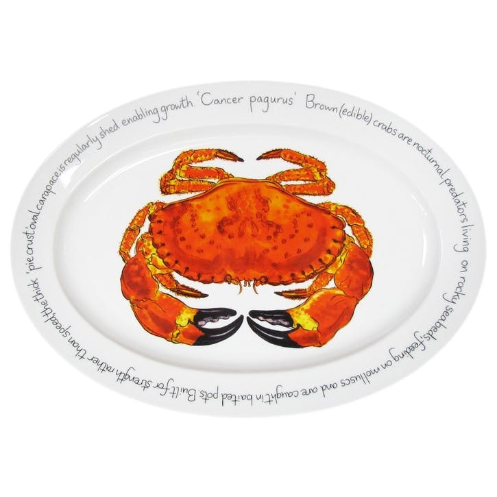 Crab Oval Plate - 39cm