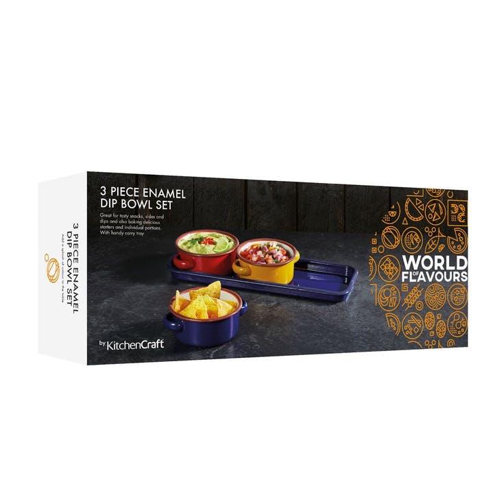 World of Flavours Enamel Dip Set