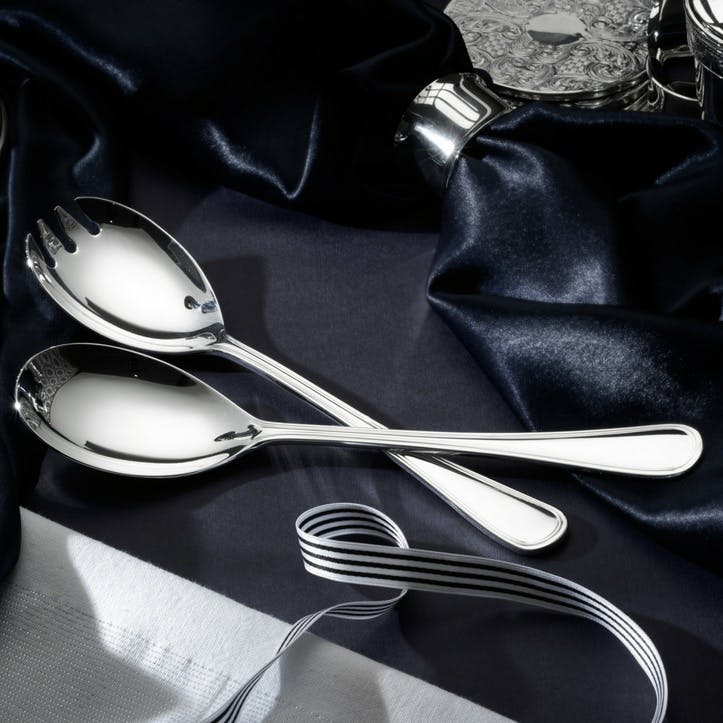 Royal Pearl Pair of Silver Plated Salad Servers