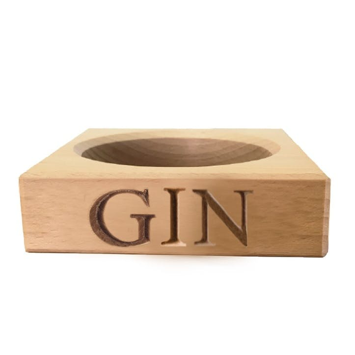 'Gin' Beech Wood Single Bottle Stand