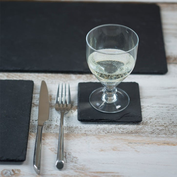 Square Slate Coaster, Set of 4
