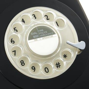 746 Rotary Telephone; Black
