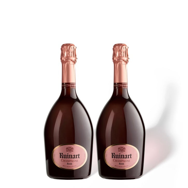 Ruinart Rosé, Duo Case, Rose and Blanc de Blancs Mix