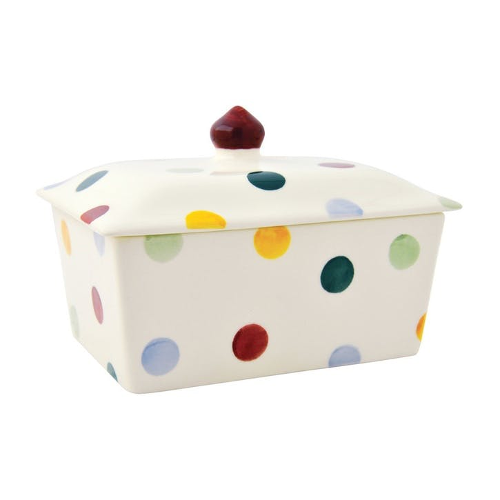 Polka Dot Butter Dish, Small