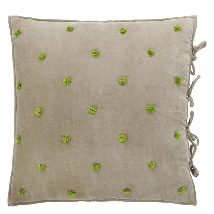 Sevanti Dove Cushion with Pom Poms