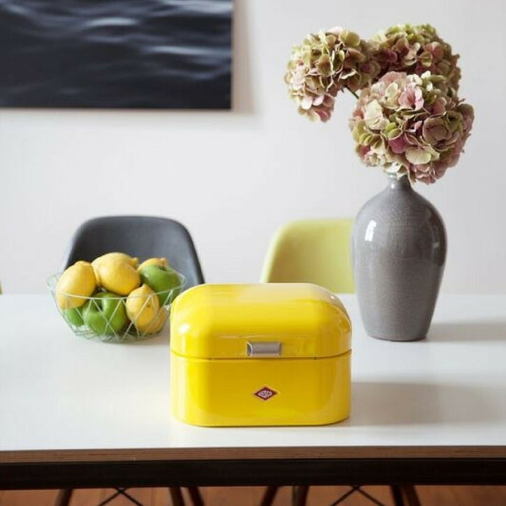 Single Grandy Bread Bin, Lemon Yellow