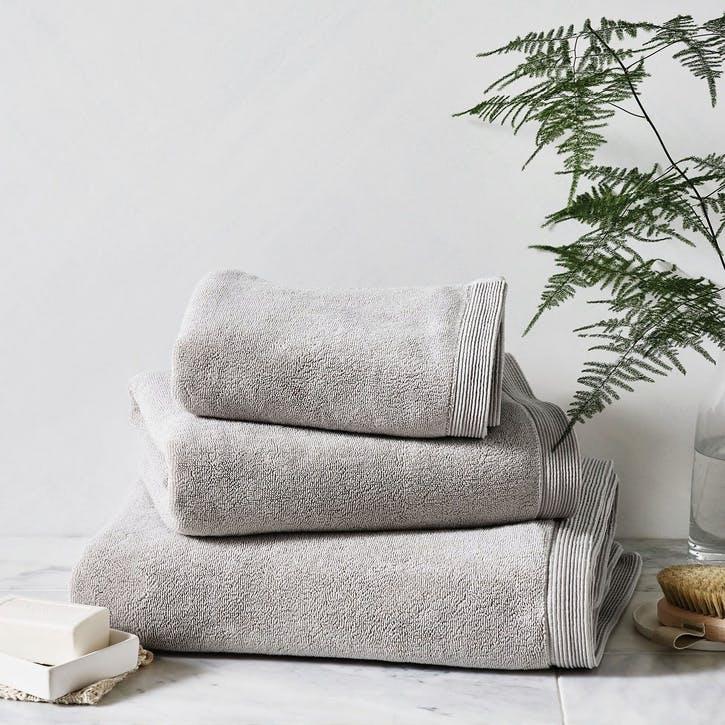 Ultimate Turkish Cotton Hand Towel, Pearl Grey