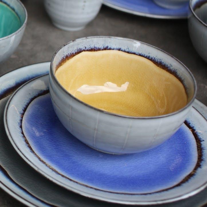 Dakara Ceramic Bowl; Mustard