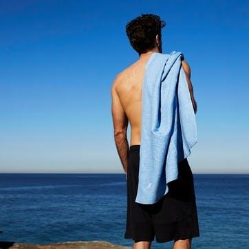 Active Yoga Towel; Lagoon Blue; Large