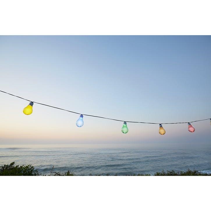 Colorful String Lights ChromaLuxe Metal Print, H51 x W61cm, Multi