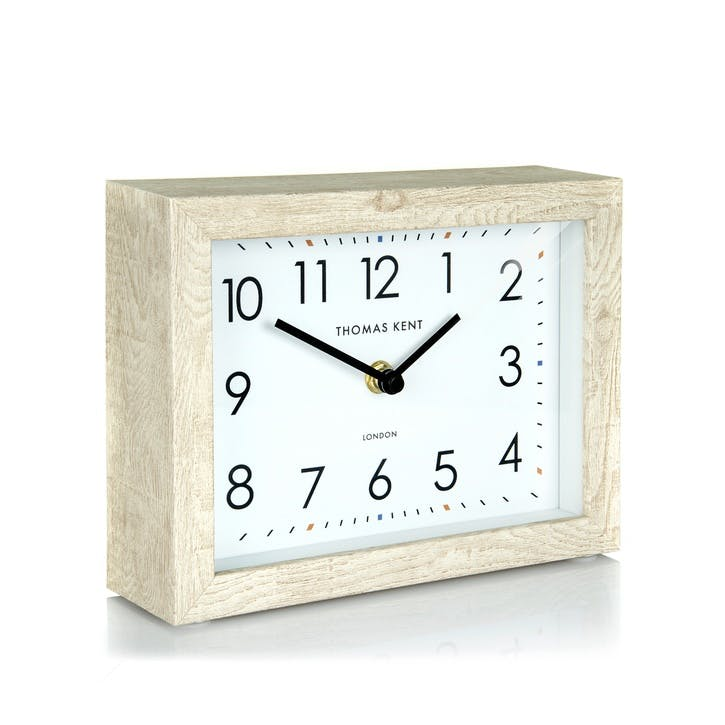Smithfield Mantel Clock, Soaped Oak