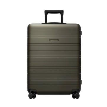 H6, Medium Check-In Trolley Suitcase, W46 X H64 X D24cm, Dark Olive