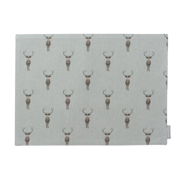 'Highland Stag' Fabric Placemat