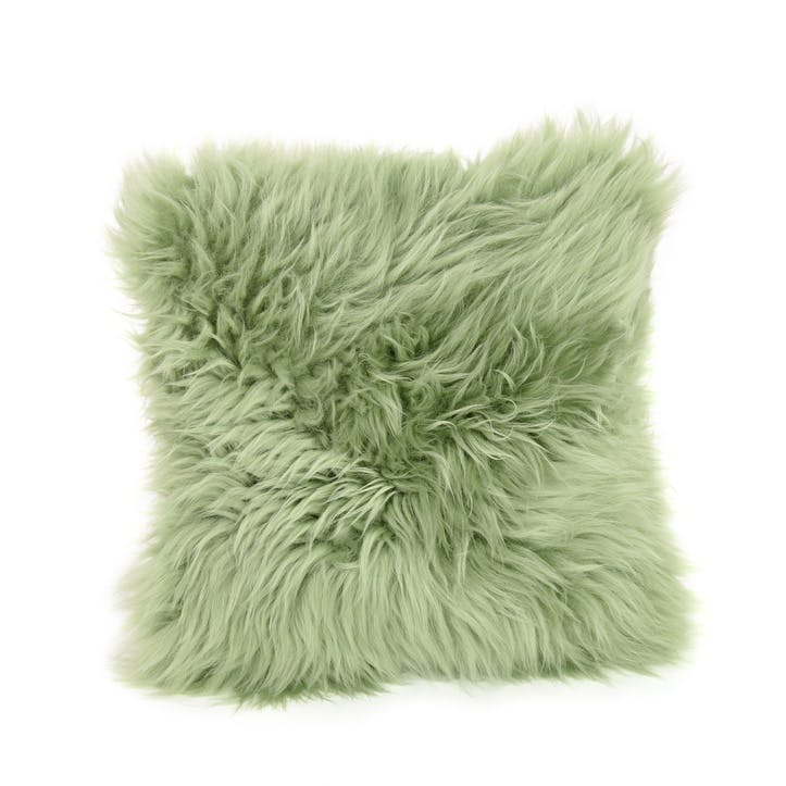 Baa Stool Square Cushion, 45cm x 45cm, Sage