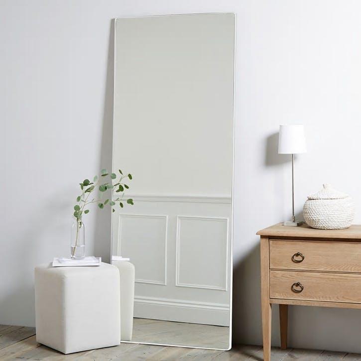 Chiltern Floor Mirror, White