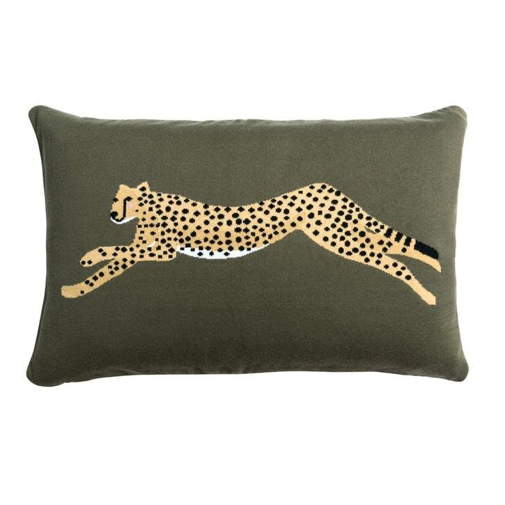'Cheetah' Knitted Statement Cushion