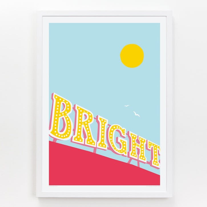 Location Brighton Pier Print, A3
