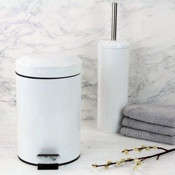3ltr Bathroom Pedal Bin; White