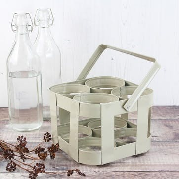 French Grey 4 Bottle Carrier