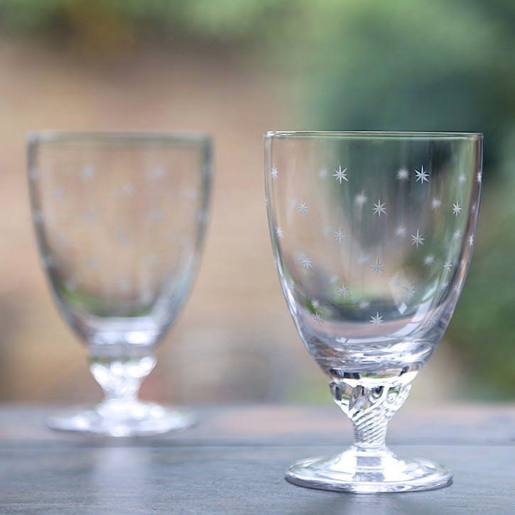 Stars Crystal Bistro Glasses, Set of 6