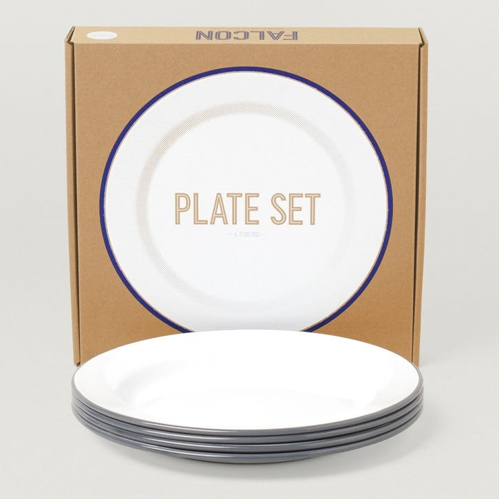 Plate Set, Pigeon Grey