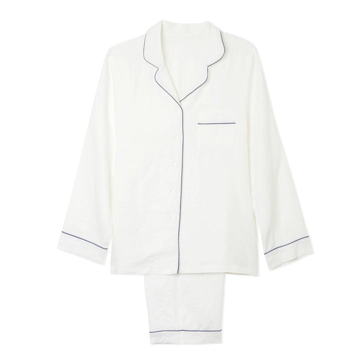 White Linen Pyjama Set, Medium