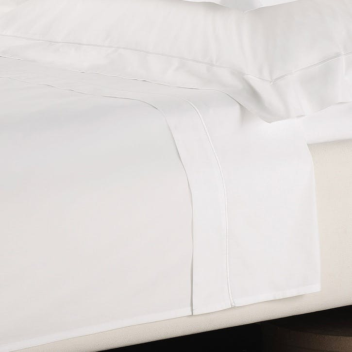 Savoy Flat Sheet, Superking, White