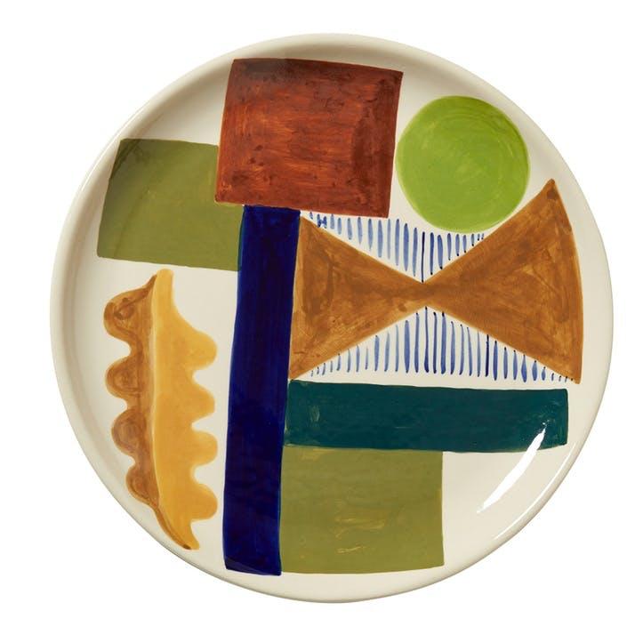 Spring Oak Dinner Plate, 26cm, Multi