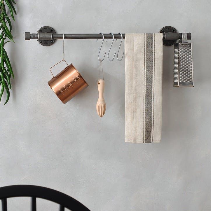 Industrial Kitchen Pan Rail - 63 x 10cm; Steel