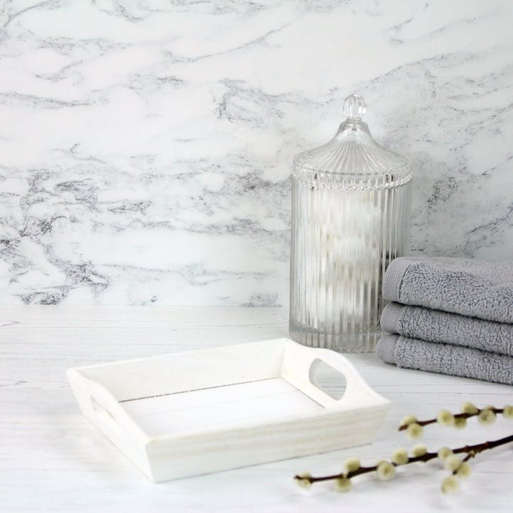 White Painted Tray, Small